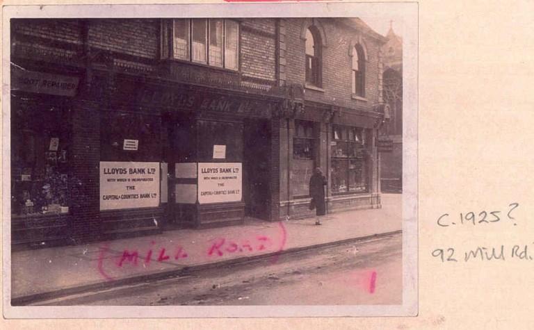 Lloyds Bank, 92 Mill Road, 1925.