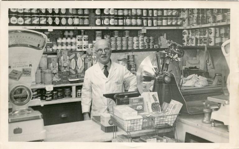 Alfred Wilkinson inside the Meadowsweet Dairy