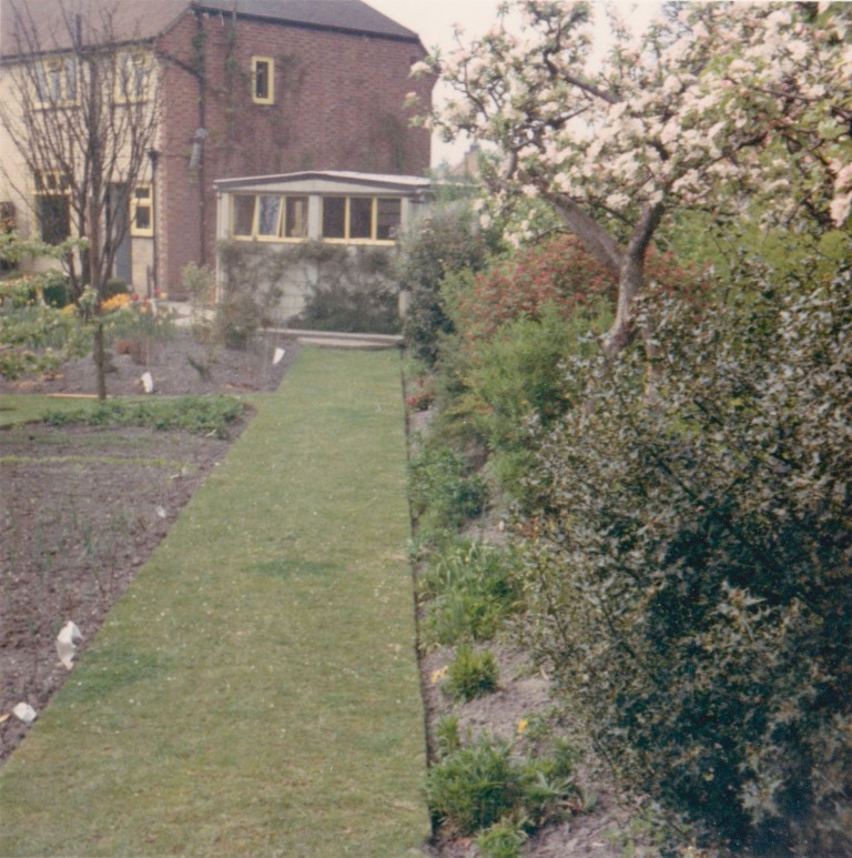 Garden at 58 Natal Road in May 1970