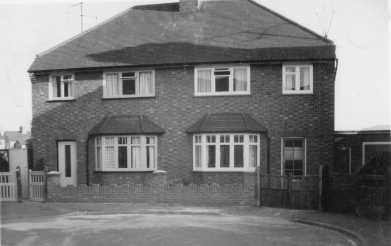 58 and 56 (right) Natal Road after new brick wall was built in 1964.
