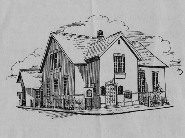 Early sketch of Romsey Methodist Church
