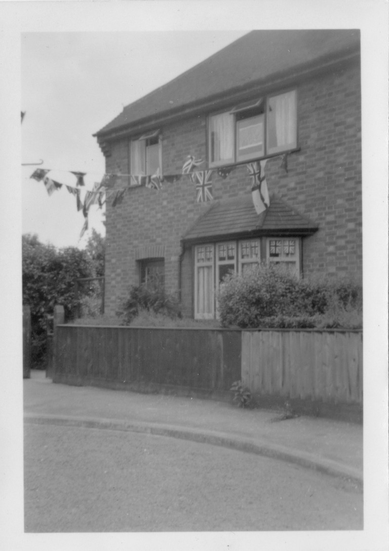 58 Natal Road Cambridge on Coronation Day 1953.