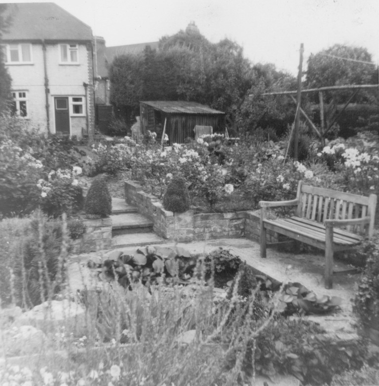 Garden of 58 Natal Road in August 1962