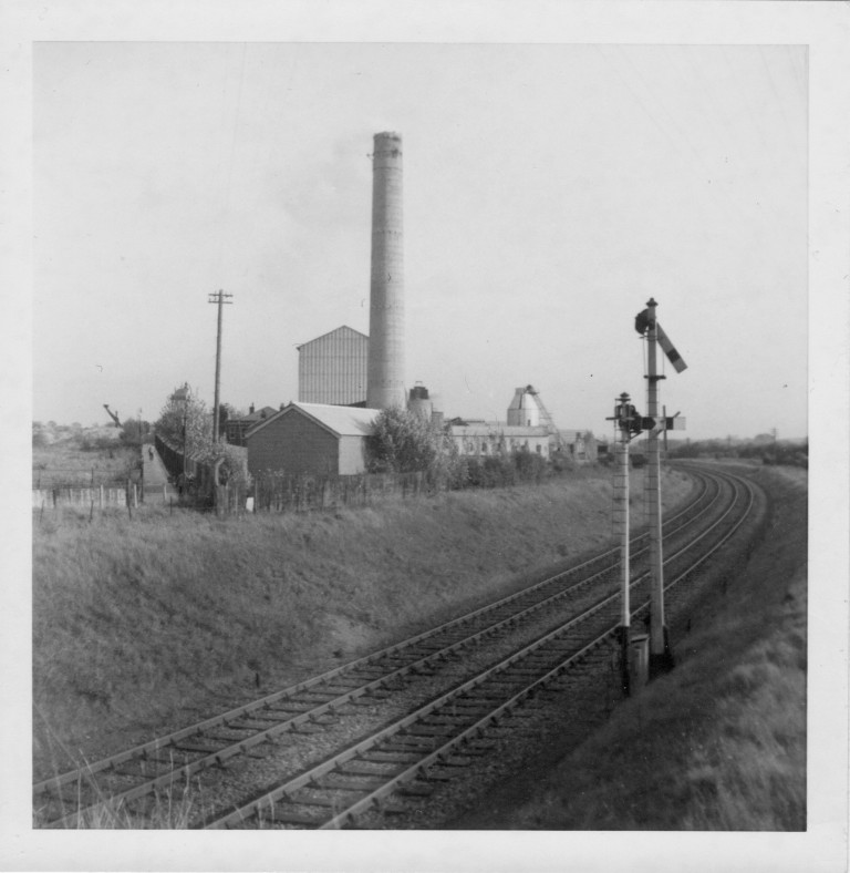 "Norman Cement Works from bridge on the ""Tin Walk"", c.1962"